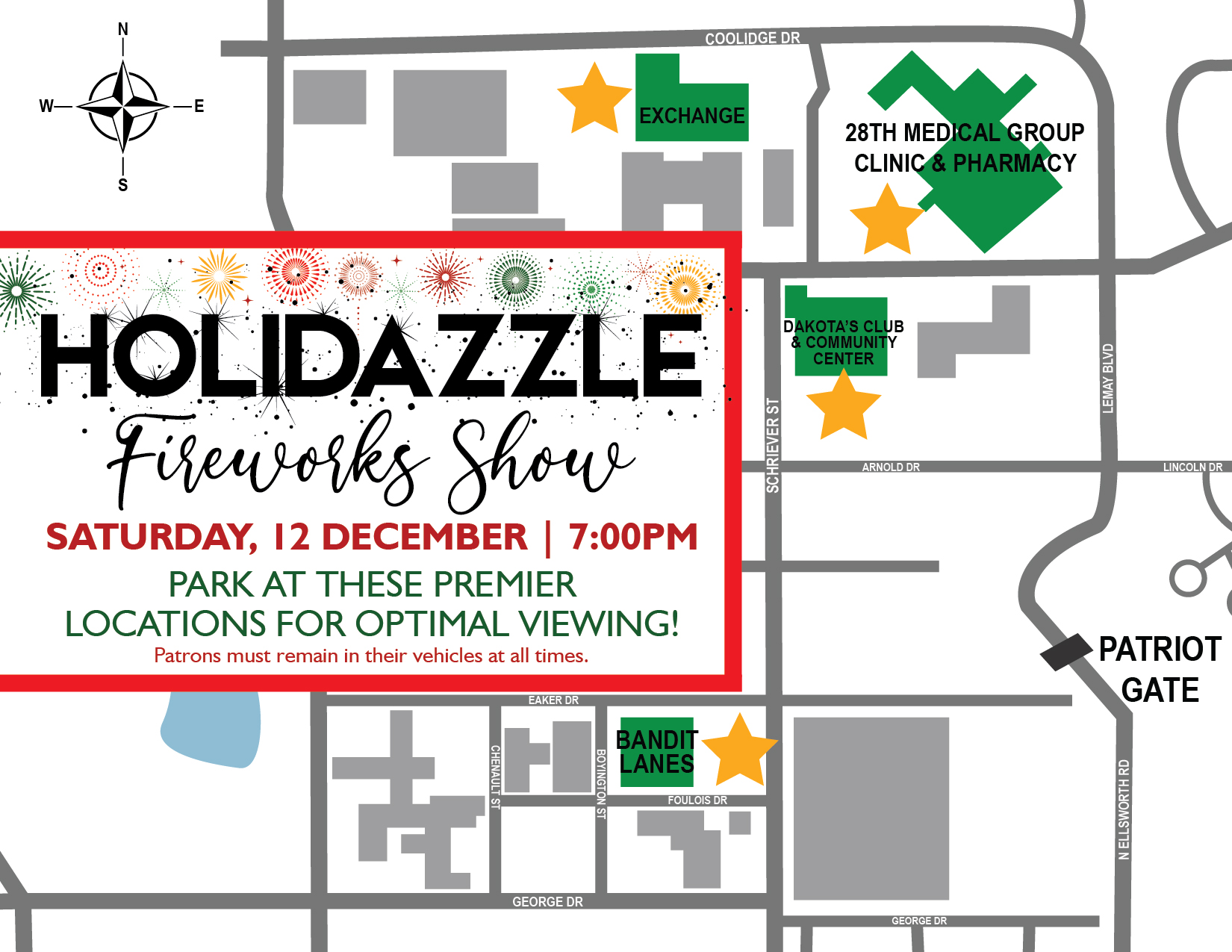 Holidazzle Fireworks Map 01